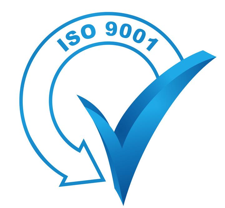 iso 9001 sur symbole valid bleu